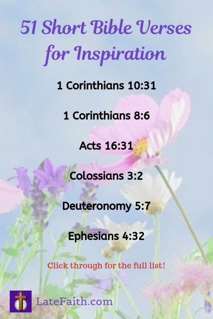 51 Short Bible Verses for Inspiration