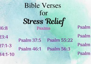 Bible Verses for Stress Relief - Psalms (featured)